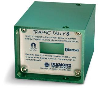 Portable Road Tube Time Interval Traffic Counter
